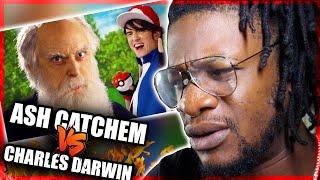 Ash Ketchum vs Charles Darwin. Epic Rap Battles of History. (REACTION)