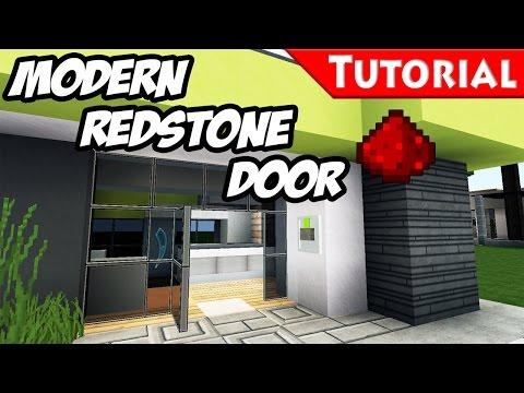 Minecraft: Redstone Door Tutorial + DOWNLOAD / for Modern redstone smart houses