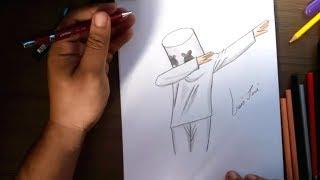 Como Desenhar O Dj Marshmello Do Jogo Fortnite Passo A
