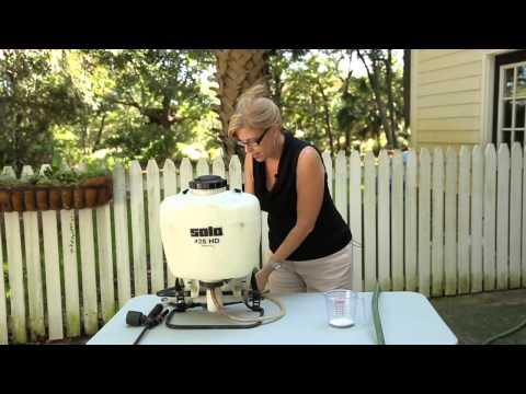 How to Clean a Pesticide Spray Tank : Garden Bug Control