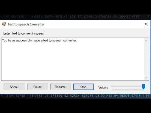 Text to Speech  Converter | C# tutorial how to create Text to Speech Converter