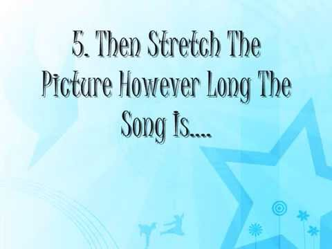 How To Make a Lyric's Video Using Window Movie Maker