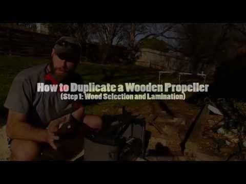 How to Duplicate a Wooden Propeller: Step 1