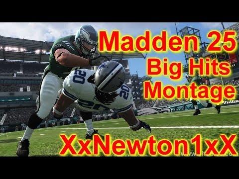 Madden 25 Big Hits Montage