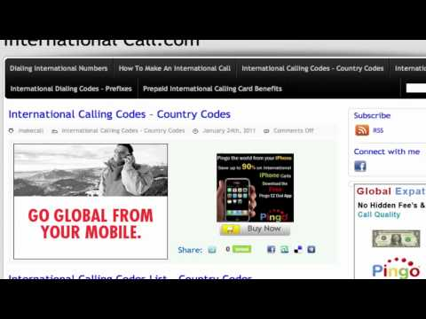 How To Make An International Call