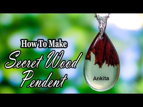 Secret Wood Pendant | Personalized Name | DIY | Tutorial With Epoxy Resin
