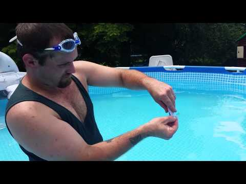 How to find a leaks at the bottom of an intex pool