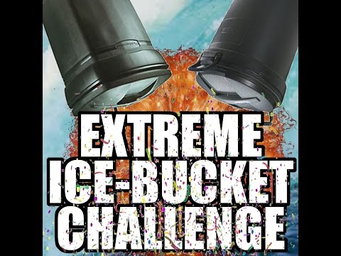 Extreme Ice Bucket Challenge for ALS..Garbage Cans