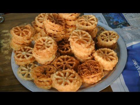 Indian Sweet Rose Cookies (Achu murukku / Achappam) Goan Christmas time Recipe