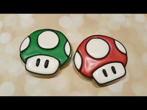 Mario Mushroom Sugar Cookies on Kookievision by Sweethart Baking Experiment