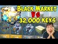 Black Market Vs 32000 Keys Super Chest War Robots Royale WR