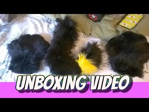 Unboxing Furry Paws And Tail (Fursona)