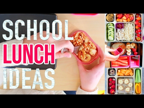 Healthy School Lunch Ideas! 3 Meals + 6 Snacks & More! HIGH SCHOOL TESTED!