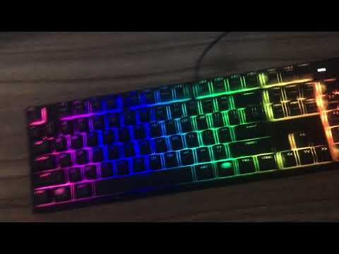 How to change the colour of your coolermaster keyboard