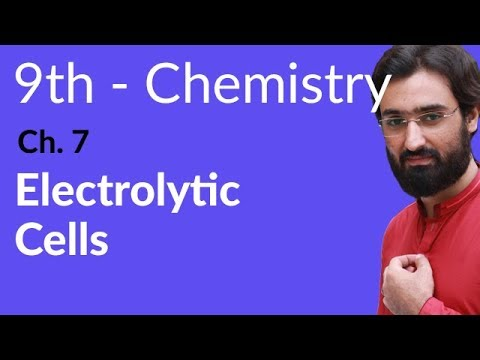 Electrolytic Cells - Chemistry Chapter 7 Electrochemistry - 9th Class.