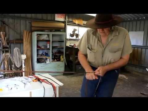 4 Plait Kangaroo Hide Stock Whip Kit - Aussie Whip Maker