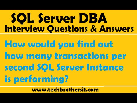 How would you find out how many transactions per second SQL Server Instance is performing