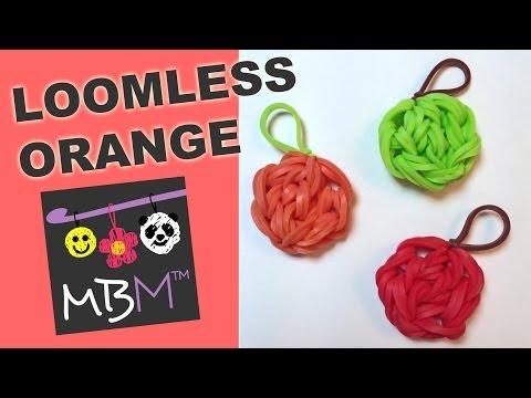 Rainbow Loom Fruit Off the Loom - Orange, Apple, Pumpkin Charm
