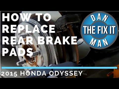 HOW TO REPLACE REAR BRAKE PADS - 2015 HONDA ODYSSEY - DIY