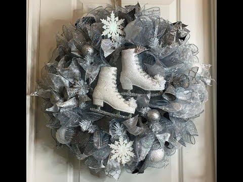 White and Silver Wreath Pouf/Ruffle Method