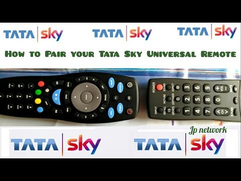 Steps To Pair New Tata Sky Universal Remote With Your TV - DTH SERVICE