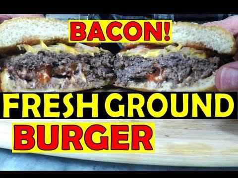 Fresh Ground Bacon Burger - Bacon Inside!