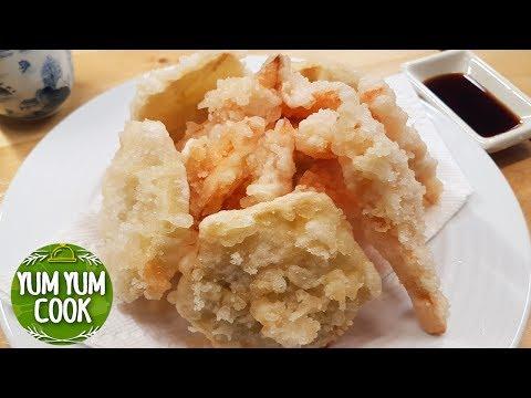 Super Crispy Yam & Sweet Potato Tempura Recipe | YumYumCook