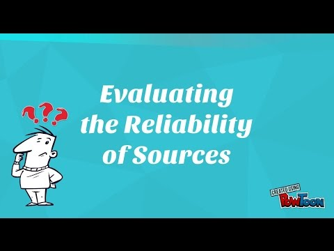 Evaluating the Reliability of Sources