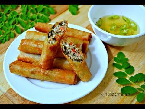 Fish Lumpia with Malunggay (Lumpiang Tulingan)