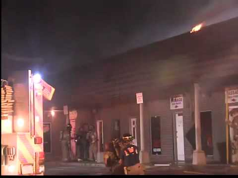 Bar patrons spot fire, call 911, save strip mall