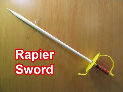How to Make a Paper Mega Rapier Sword - Easy Tutorials
