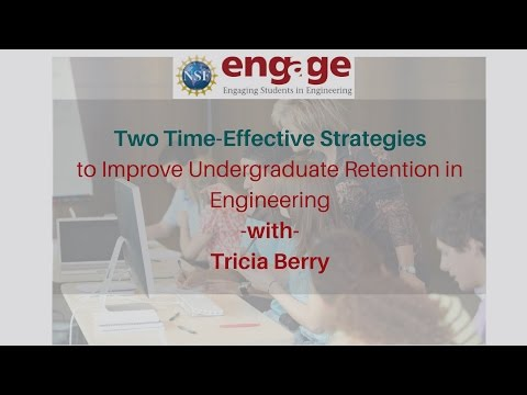 Two Time Effective Strategies to Improve Undergraduate Retention in Engineering