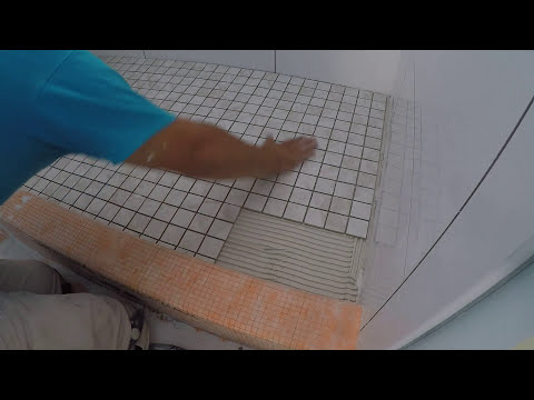 HOW TO LAY 2X2 MOSAIC SHOWER FLOOR TILE (2)