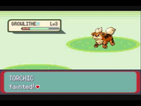 Pokemon Emerald Growlithe Only Run: Starting Off