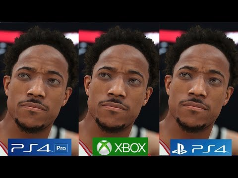 [4K/60FPS] NBA 2K18 - PS4 PRO vs PS4 vs Xbox One Graphics Comparison