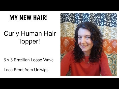 Uniwigs 5 x 5 Brazilian Loose Wave Remy Human Hair Lace Front Topper