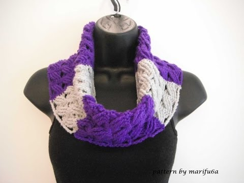 how to crochet cowl free pattern tutorial for beginners