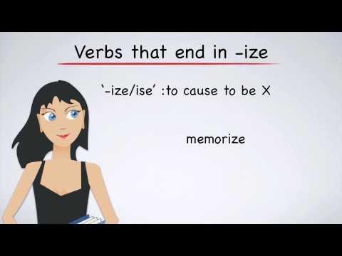 English Grammar: Suffixes that Create Verbs