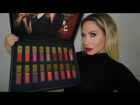 YSL MATTE LIP STAIN LIP SWATCH & REVIEW (ALL 18 SHADES)