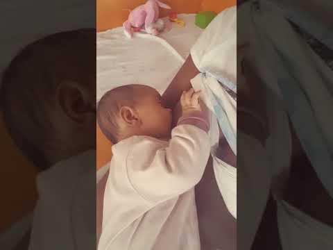 Breastfeeding my sleepy 3 month old baby