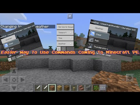 Minecraft PE Update News - Easier Way To Use Commands Confirmed For Minecraft PE 1.2