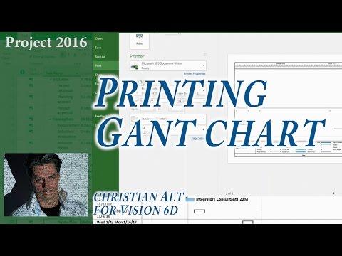 # 14 MS Project 2016 ● Print Gantt Chart ● Easy