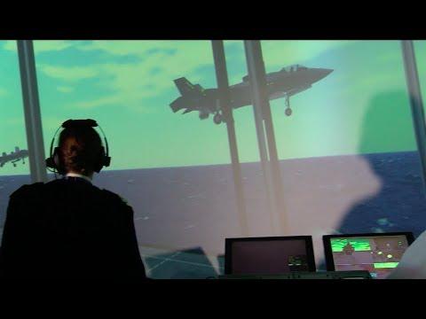 Royal Navy F-35 Lightning test pilot, Cdr Nath Gray.