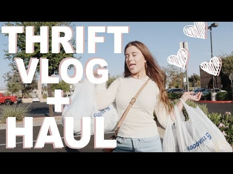 THRIFT WITH ME + Try On Thrift Haul!
