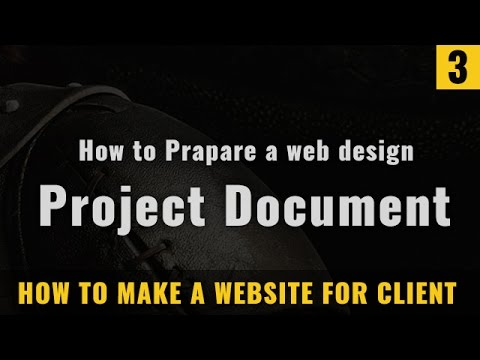 How to prepare a web design project document in Hindi