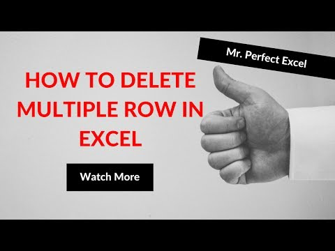 How To Delete Multiple Row in Excel in Hindi