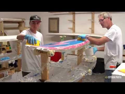How to Paint and Laminate a Surfboard   VLOG #33