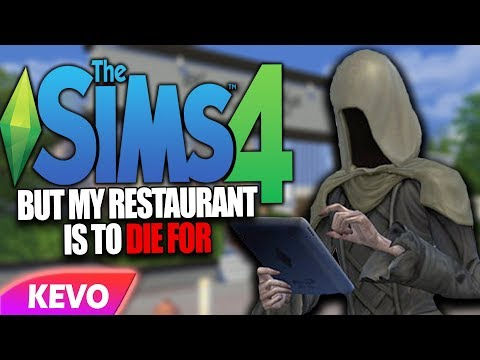 Sims 4 but my restaurant is to die for
