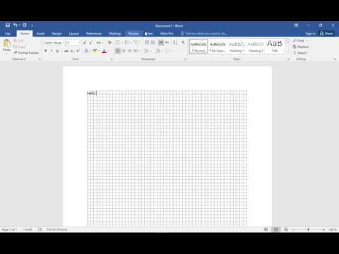 How to create a custom grid line view in Microsoft Word 2016