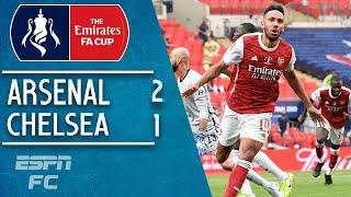 Pierre-Emerick Aubameyang double leads Arsenal past Christian Pulisic & Chelsea | FA Cup Highlights